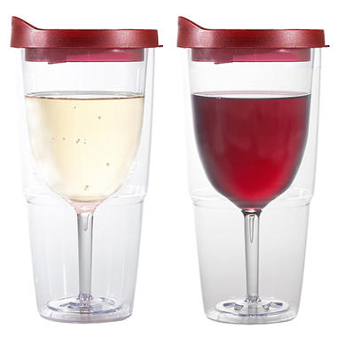Double Wall Insulated Wine Tumblers - 4 pk.