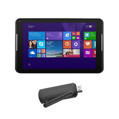 "8"" Ematic EWT816 HD Intel Quad-Core Windows 8.1 Tablet - 16GB w/ Mediabeam Universal Streaming Media Player"
