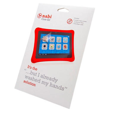 Nabi 2 Care Kit w/ Screen Protector and Cleaning Cloth