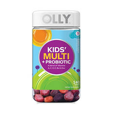 Lil' Ollys Kids' Multi + Probiotic Yum Berry Punch Vitamin Gummies (140 ct.)