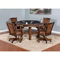 Riodoso Game Table and Chairs, 5-Piece Set