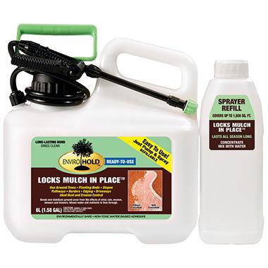 EnviroHold Mulch Glue Combo Pack + Sprayer Refill - 6L