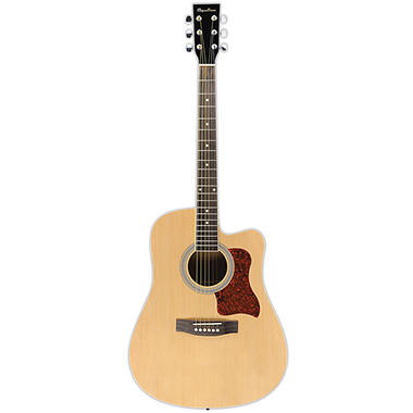 Spectrum AIL 129 Full Size Black & Spruce Cutaway Acoustic Guitar