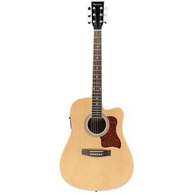 Spectrum AIL 259AE Full Size Black & Spruce Cutaway Acoustic Electric Guitar with 4 Band EQ