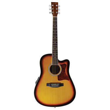Spectrum AIL 261AE Thin Body Travel Acoustic Electric Guitar with 3 Band EQ