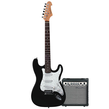 Spectrum AIL 278 - Solid Body Full Size ST Style Electric Guitar with 10 Watt Guitar Amplifier
