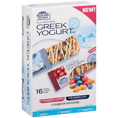 Rickland Orchards Greek Yogurt Bar Variety Pack - 1.41 oz. - 16 ct.