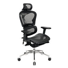 ERGO Manager's Chair with Headrest, Black/Chrome