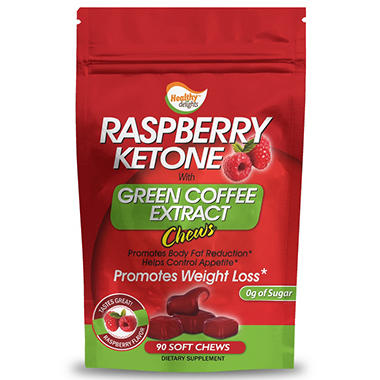 Raspberry Ketone Green Coffee Bean Chews - 90 ct.