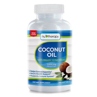 NuSource Coconut Oil Dietary Supplement - 240 ct.