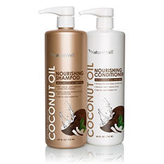 Nature Well Extra Virgin Coconut Oil Shampoo & Conditioner (24 fl. oz., 2 pk.)