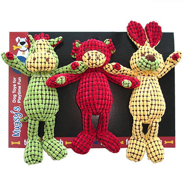 Mugsy's Plush Dog Toy - 3 pk.