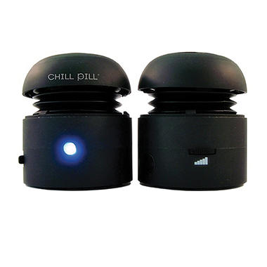 Chill Pill Black Portable Speakers