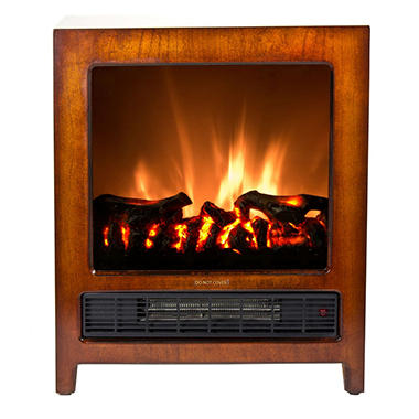 Frigidaire KSF-10301 Kingston Wooden Floor Standing Electric Fireplace - Brown