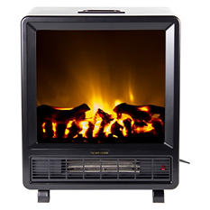 Frigidaire TFF-10308 Topaz Floor Standing Electric Fireplace - Black