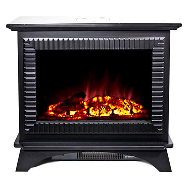 Frigidaire BMSF-10311 Boston Cast Iron Design Floor Standing Electric Fireplace - Black