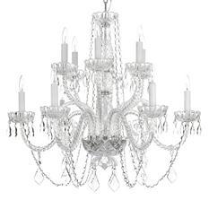 Harrison Lane Venetian-Style Crystal 12-Light Chandelier