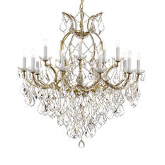Harrison Lane Maria Theresa Crystal 2-Tier Chandelier (Gold)