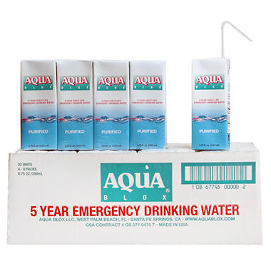 Aqua Blox Emergency Water - 32 - 6.75 oz.