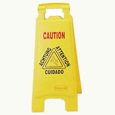 Rubbermaid Floor Sign Multi-Lingual ?Caution?