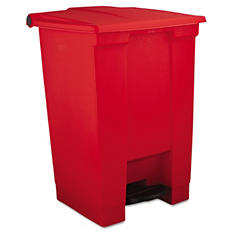 Rubbermaid Step-On Container - Red - 12 Gallon