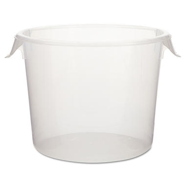 Rubbermaid Commercial Round Storage Containers, Clear