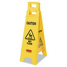 "Rubbermaid Floor Sign ""Caution Wet Floor"""