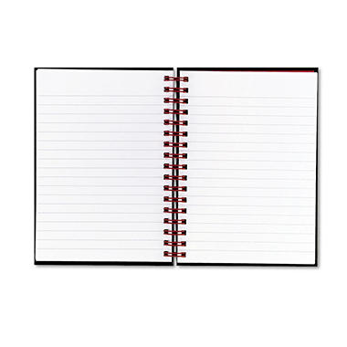 Black n' Red Twinwire Hardcover Notebook, Legal Rule, 5-7/8 x 8-1/4, White, 70 Sheets