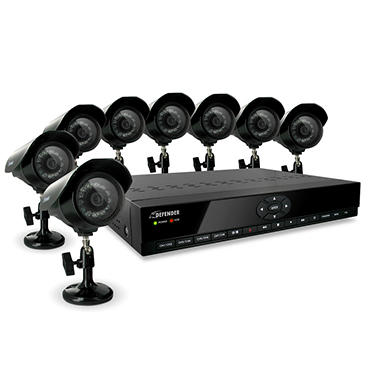Defender H.264 8CH Smart Security System with 8 CCD Cameras