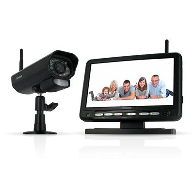 "Defender Digital Wireless DVR Security System with 7"" LCD Monitor and Long Range Camera"