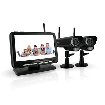 "Defender Wireless Digital DVR Security System with 7"" LCD Monitor and Two Long Range Cameras"