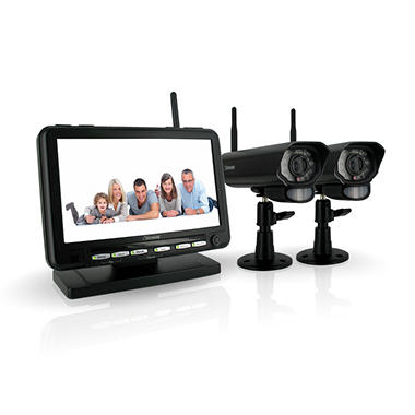 "*$239.88 after $60 Tech Savings* Defender Wireless Digital DVR Security System with 7"" LCD Monitor and Two Long Range Cameras"