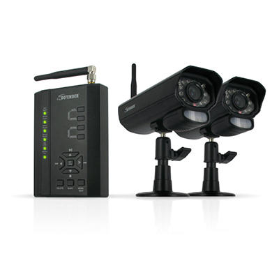 Defender Digital Wireless DVR Security System with Receiver and Two Long Range Cameras