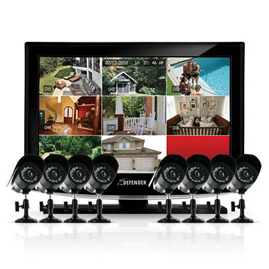 "Defender Sync 19"" LCD All-In-One Security System - 8 Cameras"