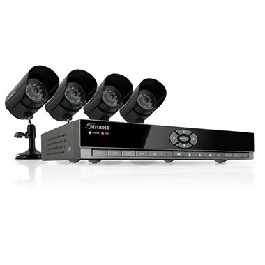 Defender 4CH H.264 DVR with 4 CMOS Cameras