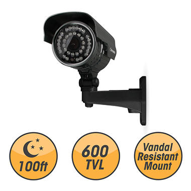 Defender Ultra High-Res 600TVL 100ft Night Vision Indoor/Outdoor Surveillance Camera