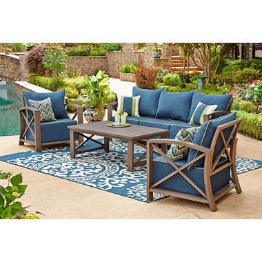 Nantucket 4-Piece Seating Set, Indigo - Sam's Club