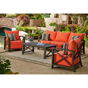 Nantucket 4-Piece Deep Seating Set, Melon