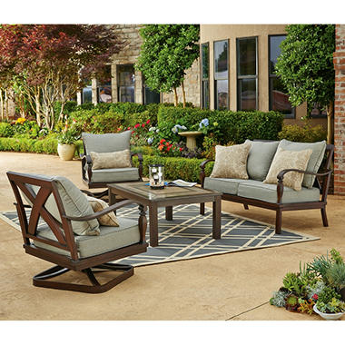 $697 00 Brittany 4 Piece Patio Conversation Set dealepic