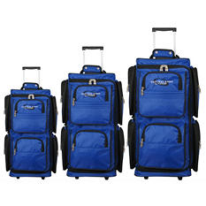 Geoffrey Beene Vertical Duffle Wheeled Set -  3 pc.
