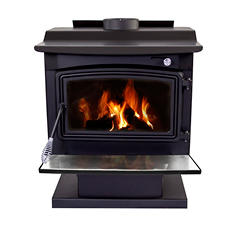 Pleasant Hearth Large Wood-Burning Stove - Heats up to 2,200 Sq. Ft.