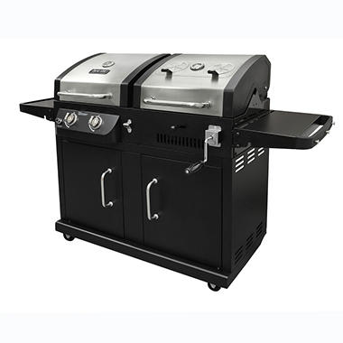 Dyna-Glo 24,000 BTU 2 Burner Dual Fuel (LP Gas/Charcoal) Grill