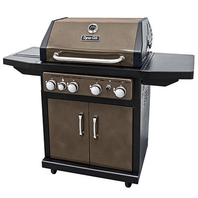 Dyna-Glo Bronze 60,000 BTU 4 Burner LP Gas Grill With Side Burner