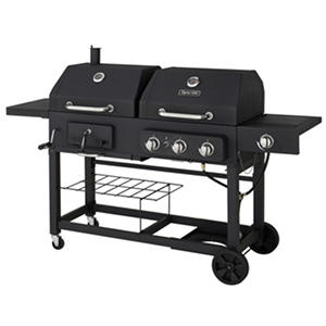 Dyna-Glo 48,000 BTU 3 Burner Dual Fuel (LP Gas/Charcoal) Grill with Side Burner