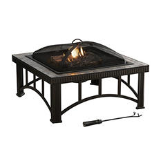 "Pleasant Hearth 30"" Hampton Natural Slate-Top Fire Pit"