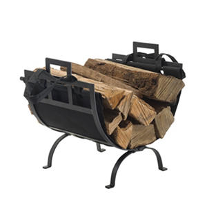 Pleasant Hearth Log Holder with Canvas Tote