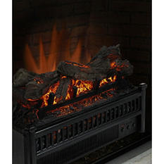 Pleasant Hearth Electric Crackling Log with Heater