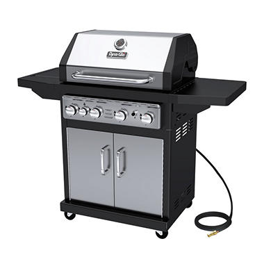 Dyna-Glo Premium 60,000 BTU 4-Burner Natural Gas Grill with Side Burner