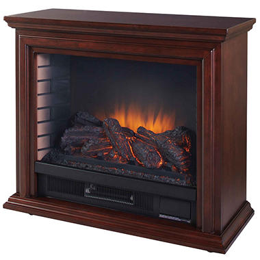 Pleasant Hearth Sheridan Infrared Mobile Fireplace Cherry Sam 39 S Club
