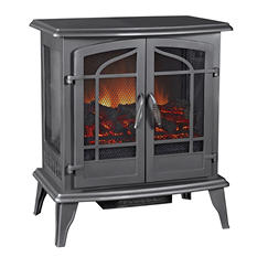 Pleasant Hearth Panoramic Electric Stove - Vintage Iron